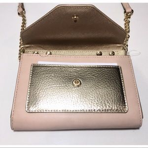 Nine West Bags - Nine West Aleksei Pink/Gold Small Crossbody Bag